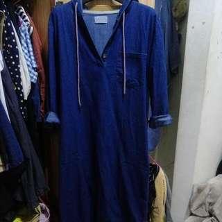 行星-單寧長版洋裝