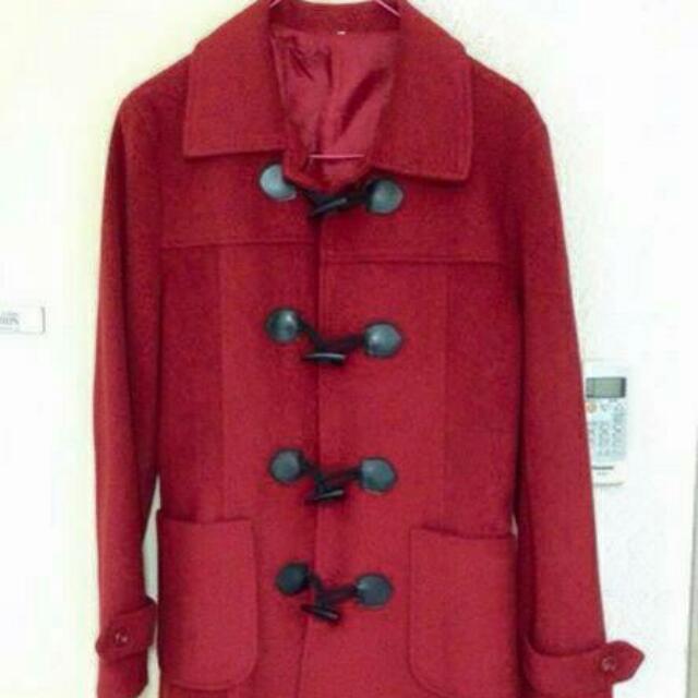 正紅大衣外套