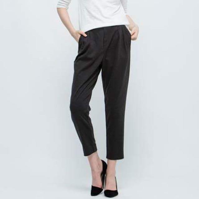 Net素色條紋針織長褲