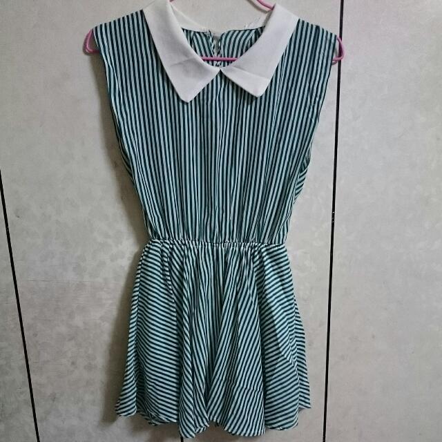 綠色條紋小洋裝👘👘👘