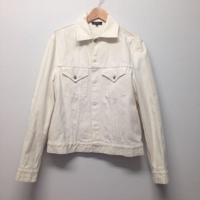 Apc 白色牛仔外套
