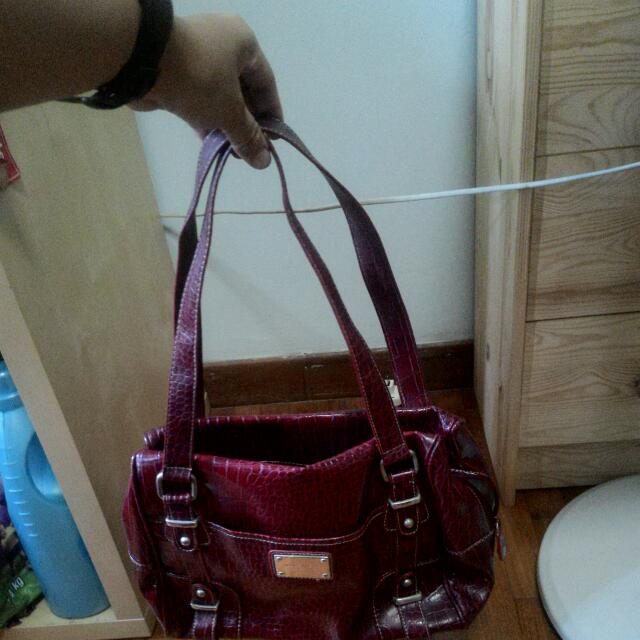 Authentic Nine West Crimson Red Bag