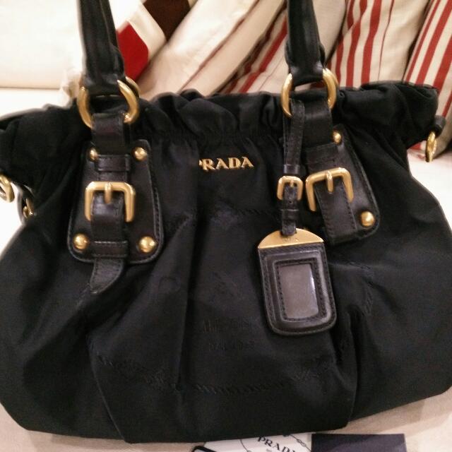98b874427a99 Authentic Prada Br4259 Nylon Jacquard Nero