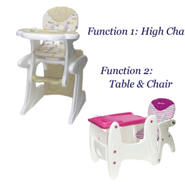 Baby High Chair Convertible To Table Chair On Carousell