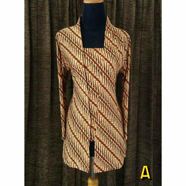 Batikrakyat A44 Size M-xlBaju Batik Kutubaru Sogan Baju Batik Jumbo