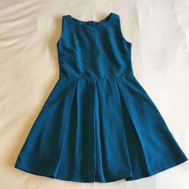 Blue Dress- Free Size