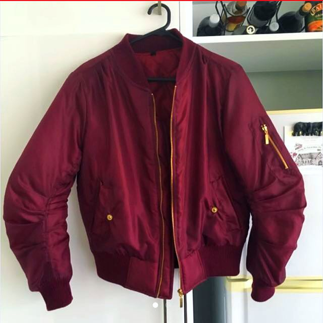 🔒Burgundy Bomber Jacket 🔒ON HOLD🔒
