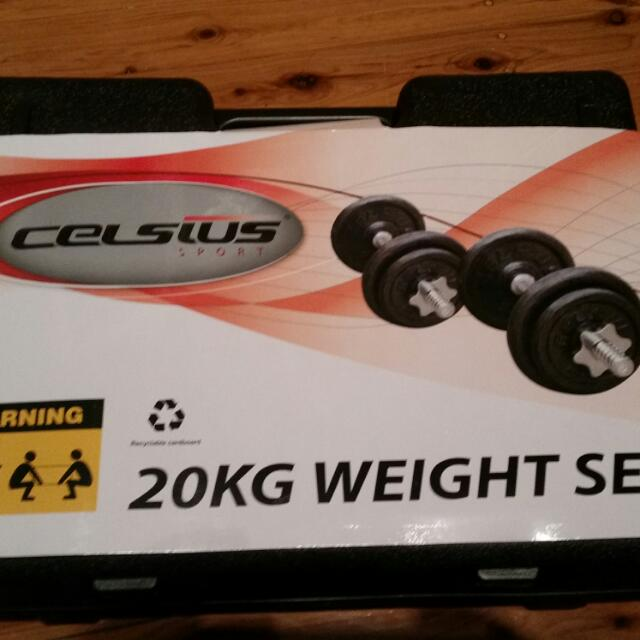 Celsius 20kg Bumbell Weight Set
