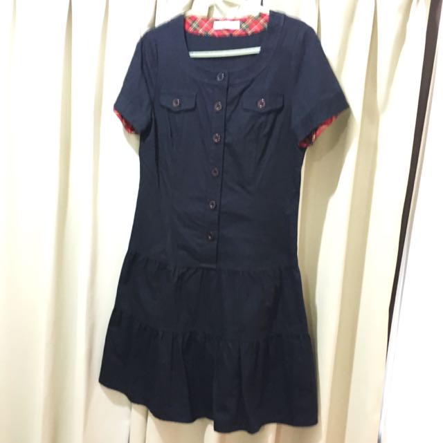 COTTON INN 深藍色洋裝