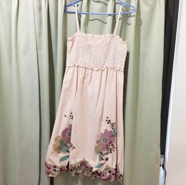 COTTON INN 粉色洋裝