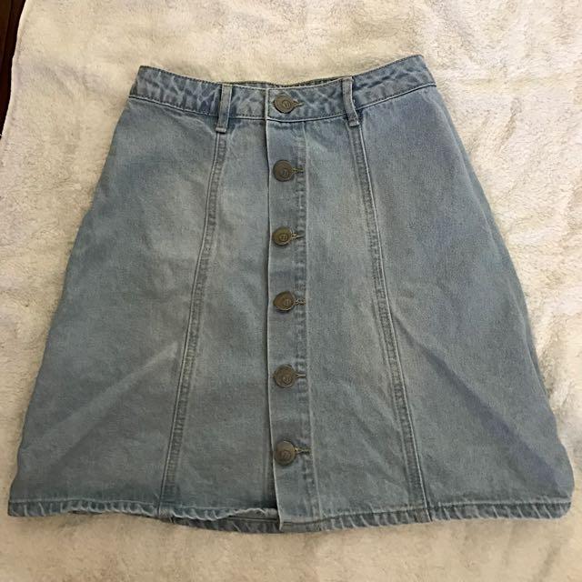 Cotton On Button Up Mini Skirt Size 6
