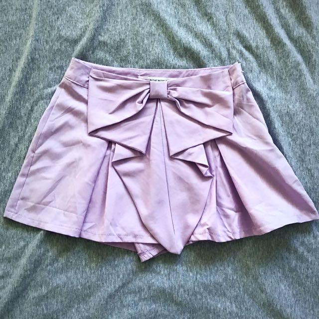 Cute Bow Skort (Size 8 - Lilac)
