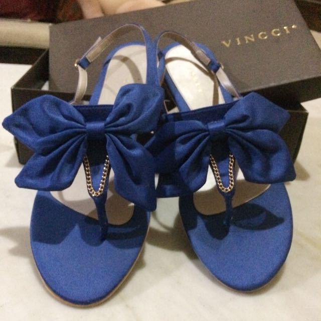 Electric Blue Flat Sandal (Vincci+)