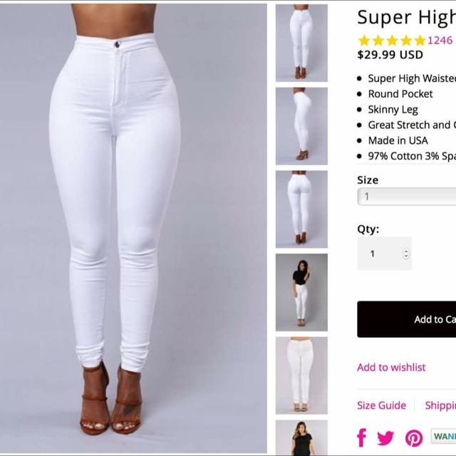 Fashion Nova High Waist Jeans