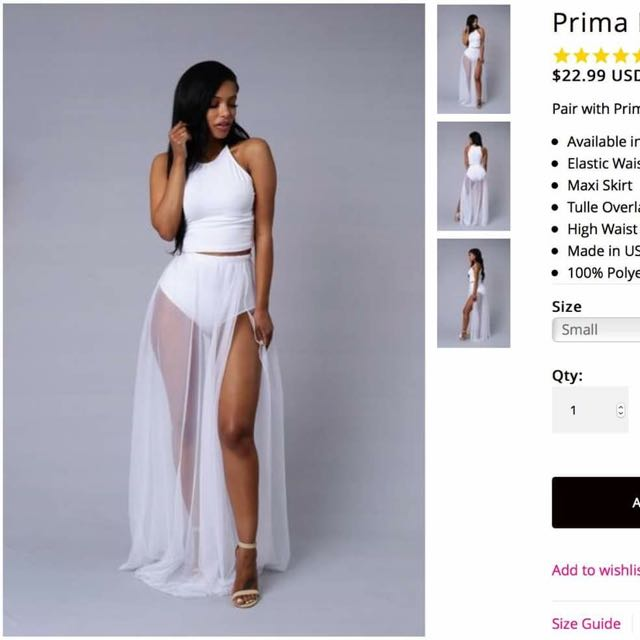 Fashion Nova Prima Donna Skirt