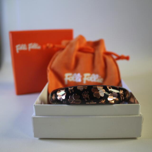 Folli Follie Bracelet Original  Color : Black
