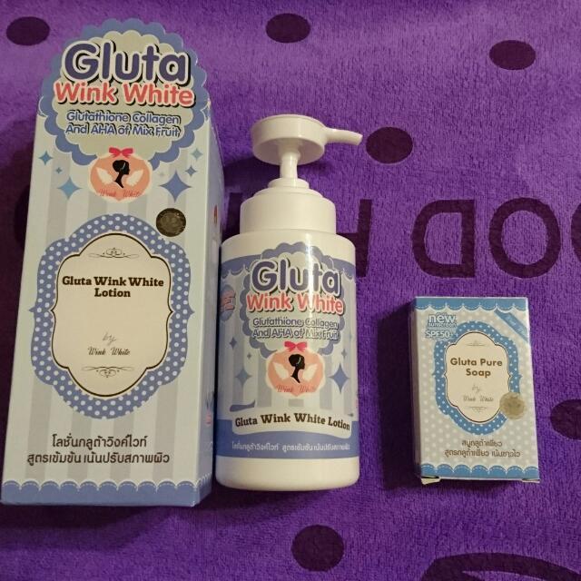 Gluta 瞬效美白防曬乳液300ml+美白皂 泰國製