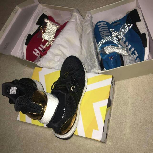 Gold Medal Ultraboost, Human Race Pharrell Williams Nmds