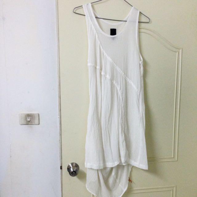 [全新]GOZO野餐風不對稱連身裙