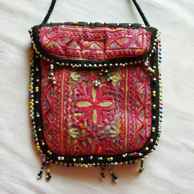 Handmade Embroided Pouches Bags