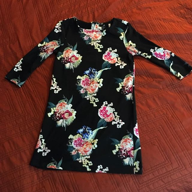 H&M Long Sleeve Floral Mini