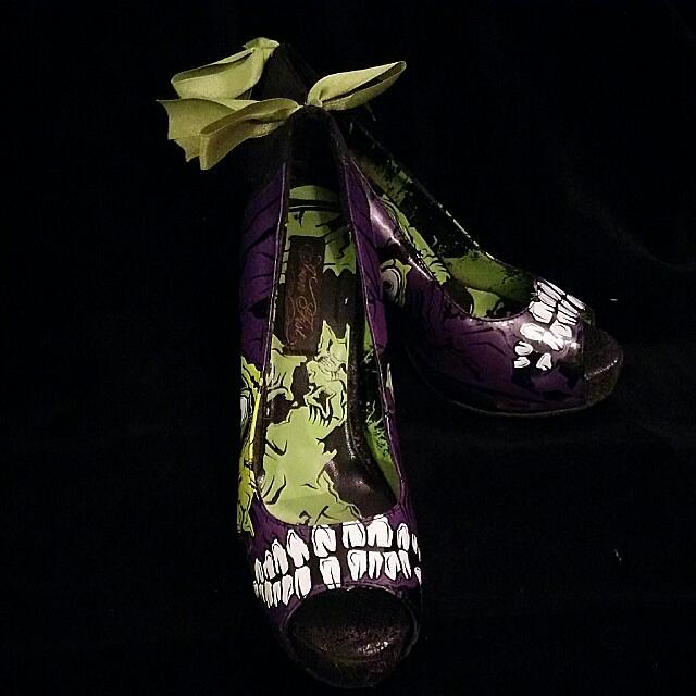 Iron Fist Zombie Peep Toe Heels