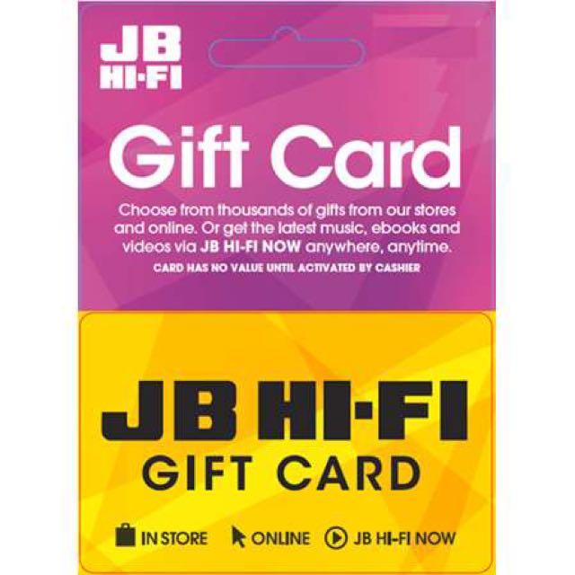 Jb Hifi Gift Voucher $750