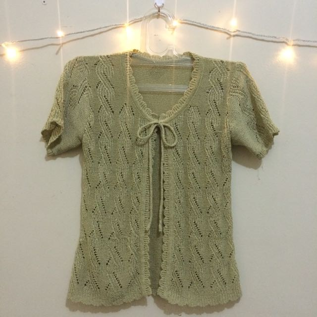 Knitted Cardigan Short Sleeves