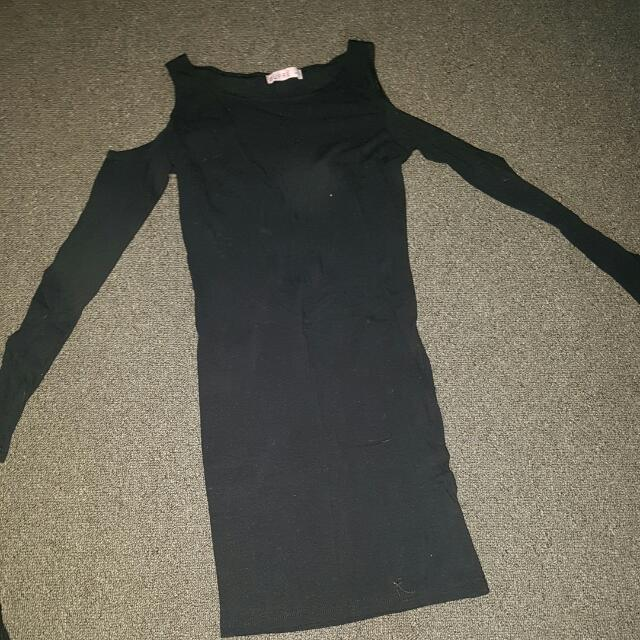 Little Black Long Sleeve Dress