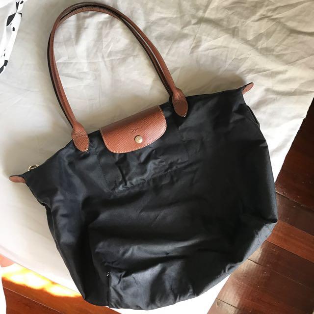 Longchamp 'Le Pliage' Large Black Tote