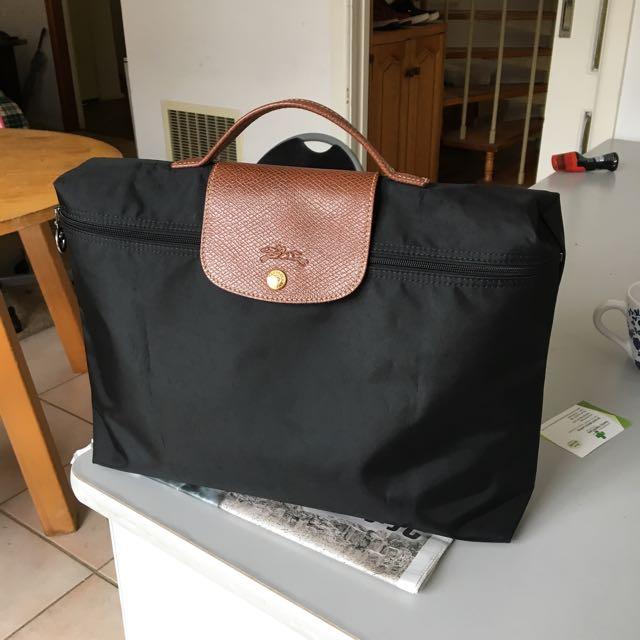 Reduced!! Longchamp Le Pliege Briefcase in black colour