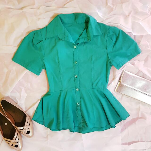 Meg Blue green Blouse