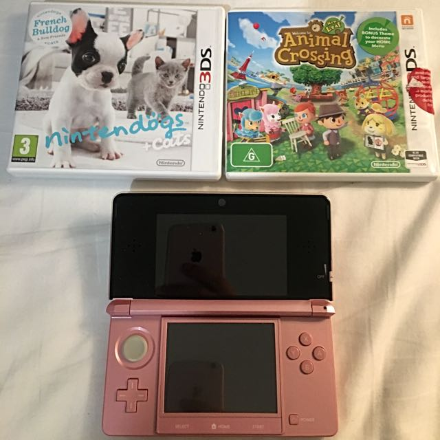 NINTENDO 3DS + ANIMAL CROSSING + NINTENDOGS