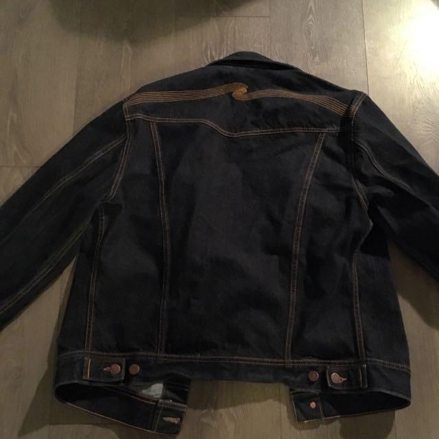 Nudie Jeans Raw Denim Jean Jacket XL