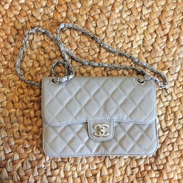 NWOT Replica Chanel Classic Flap Grey