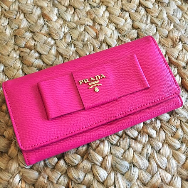 NWOT Replica Prada Wallet - Hot Pink