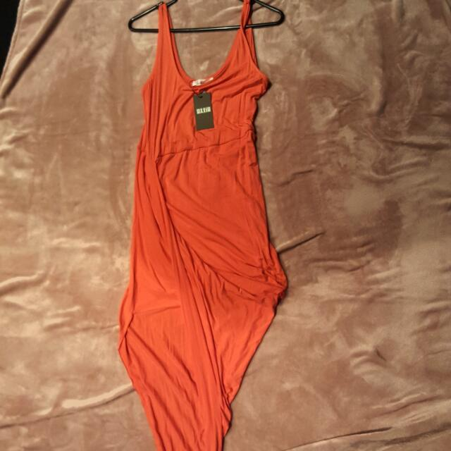 Orange Asymmetrical Dress
