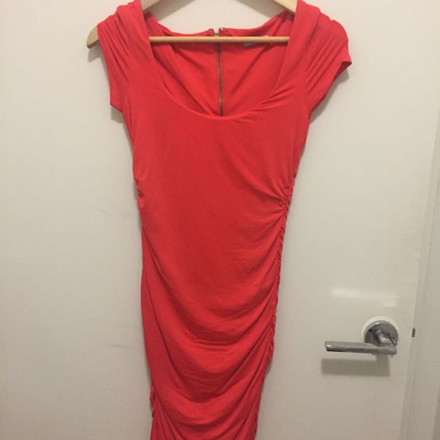 Orange Kookai Size 1 Snug Dress
