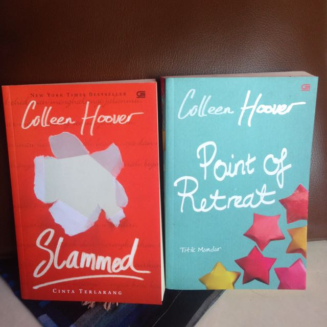 Paket Novel Slammed & Point Of Retreat By Collen Hoover Terjemahan