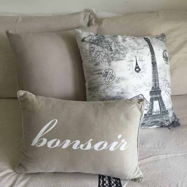 Parisian Themed Cushions