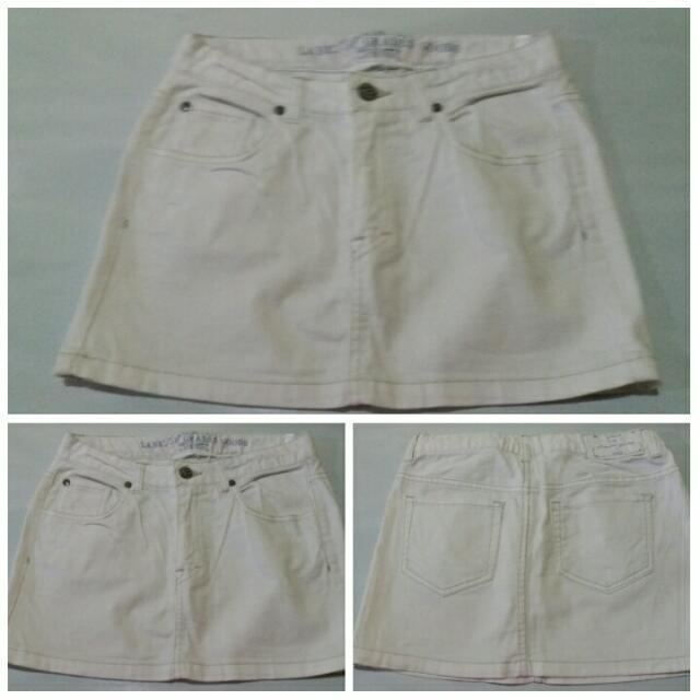 Preloved Maong White Skirt