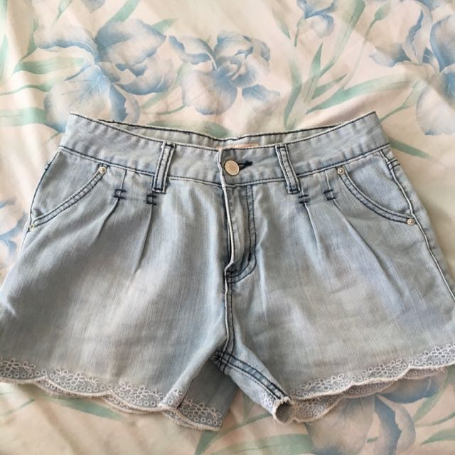 🚛 Free Shipping! 🚛 Scalloped Denim Shorts #freeshipping