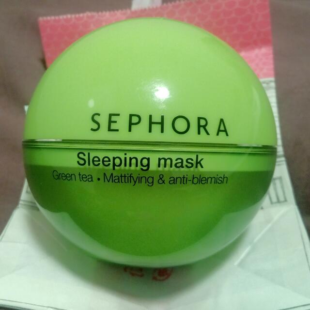 [Reprice] Sephora Green Tea Sleeping Mask