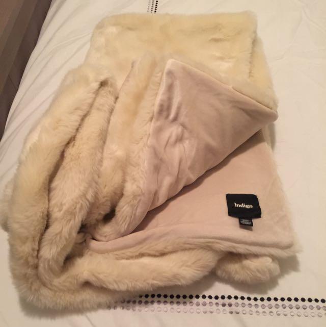 Soft Faux Fur Throw From Indigo