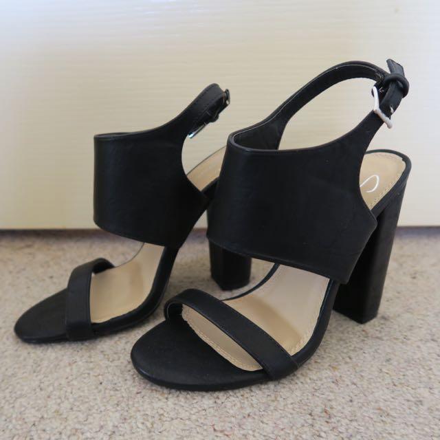 SPURR 'Quan' Heels - Double Strap 38 7
