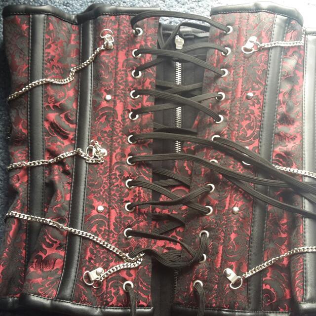 Steel Boned Brocade Corset