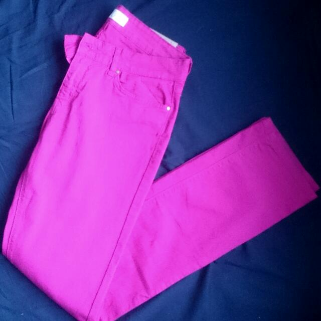 Super Pink Zara Pants Size 40 EUR