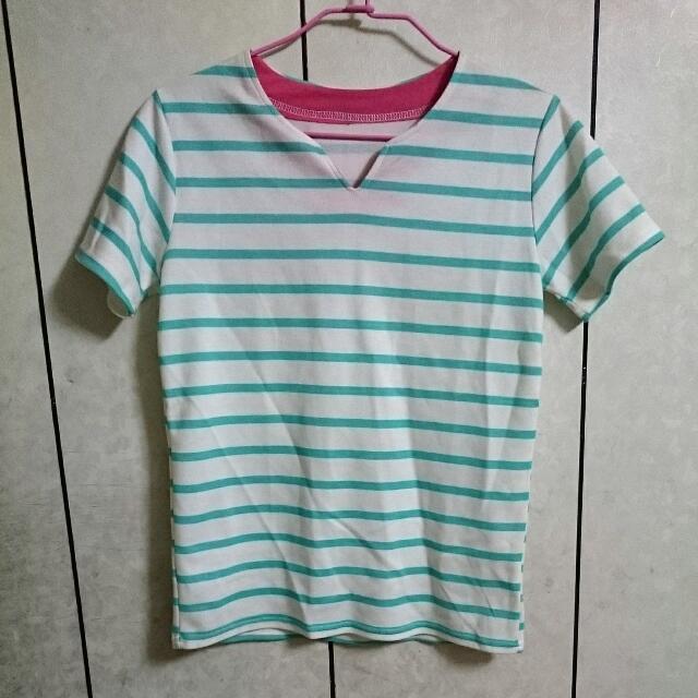 蒂芬尼綠條紋T恤💚💚💚💚💚