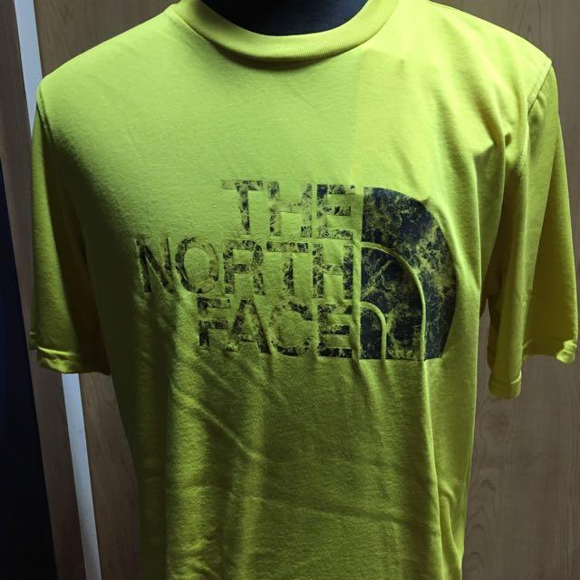 THE NORTH FACE能量棉短袖黃色T.N.F全新