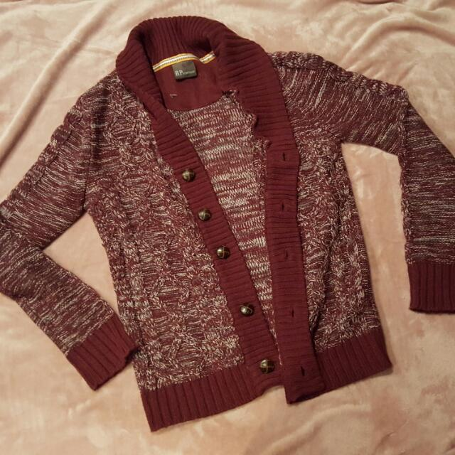 Warm Maroon Cardigan
